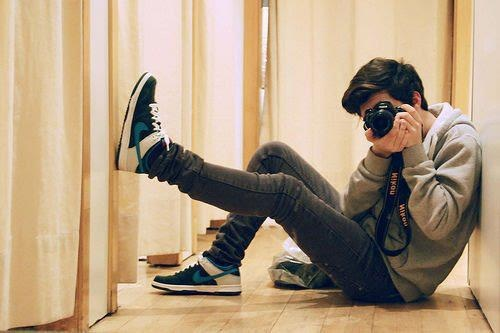 Boys Stylish DP With Camera for facebook