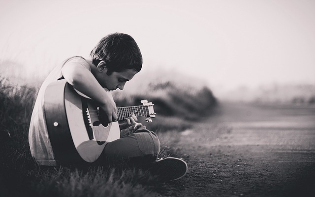 cool and stylish profile pictures for facebook for boys with guitar
