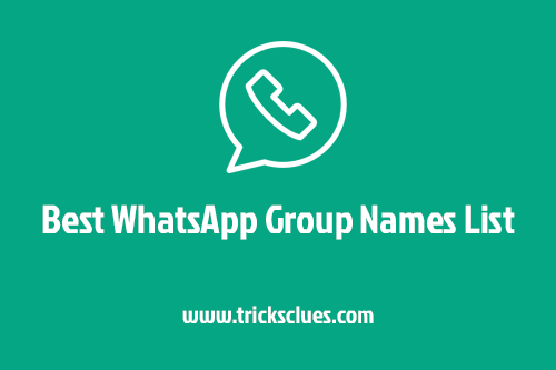 Whatsapp Group Names List 2018 For Friends Family Funny New