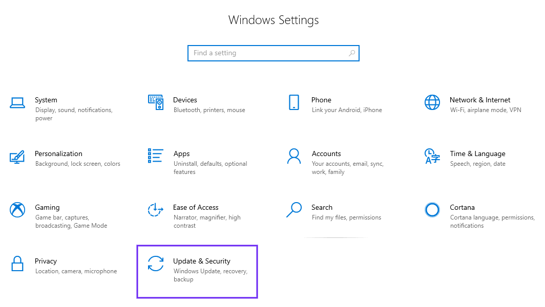 select update and security