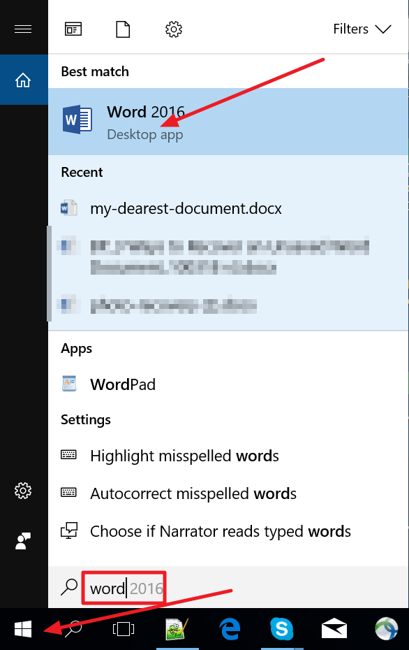 Reopen your MS word